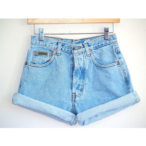 Denim High Waist Shorts - The Else